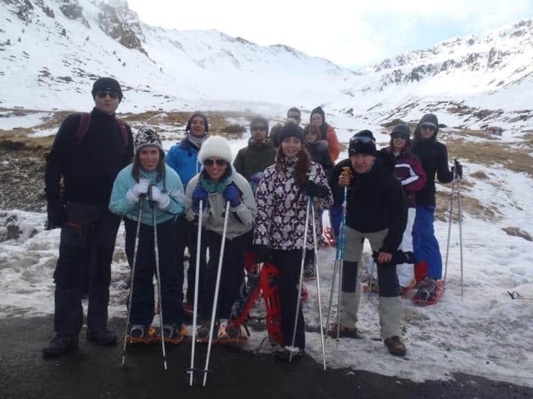 30 de diciembre de 2012: NIEVE ACEPTABLE PARA RAQUETAS EL LA BOCA NORTE DEL TUNEL DE BIELSA
